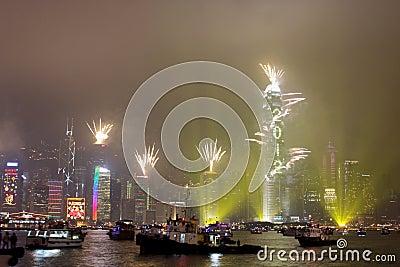 New Year Celebration in Hong Kong 2012 Editorial Image