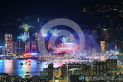 New Year Celebration in Hong Kong 2013 Editorial Photo