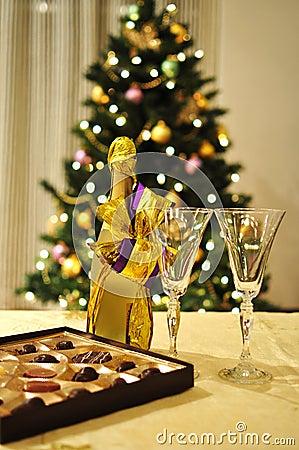 New year celebration setting