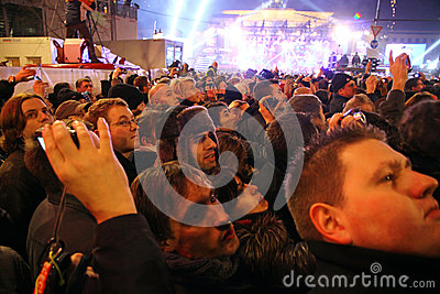 New Year celebrations in Berlin, Germany Editorial Stock Photo