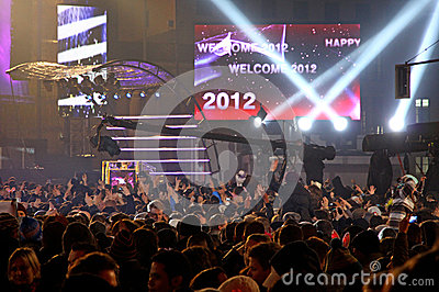 New Year celebrations in Berlin, Germany Editorial Photo