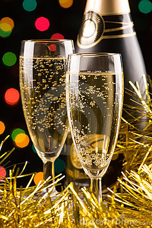 Free New Year Champagne Royalty Free Stock Images - 3815769