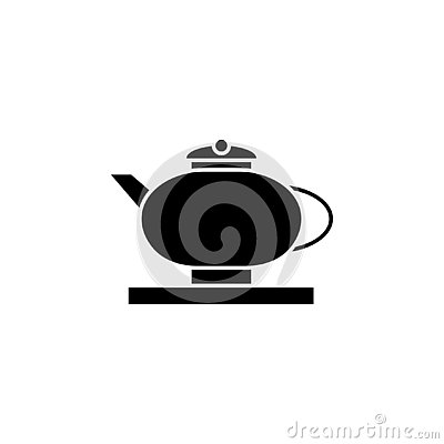 New year, China, teapot, icon can be used for web, logo, mobile app, UI, UX Vector Illustration