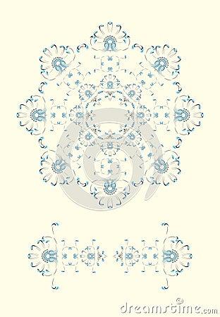 New year / christmas snowflake greeting card