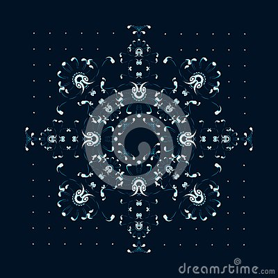 New year / christmas snowflake greeting card