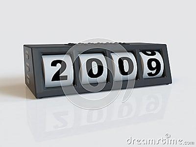 New year clock