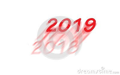 New year 2019 is coming Stock Photo