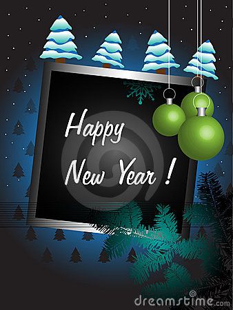 New Year decorated frame