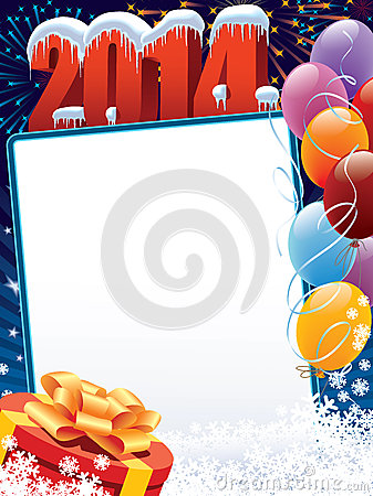 New Year 2014 decoration
