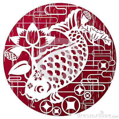 Free New Year Fish In Grunge Style For Celebrating CNY Royalty Free Stock Photo - 36521875