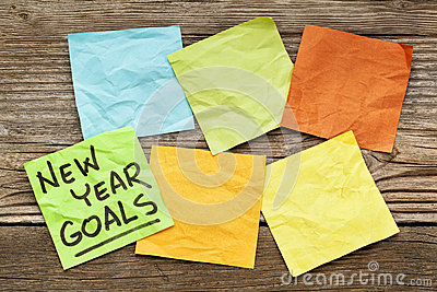 New Year goals note