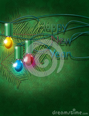 New year green background