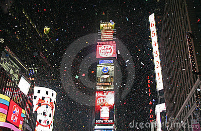 New Year Greeted at Times Square Editorial Stock Image