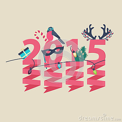 2015 New Year greeting card design