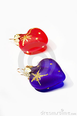 New year heart-shaped decoration