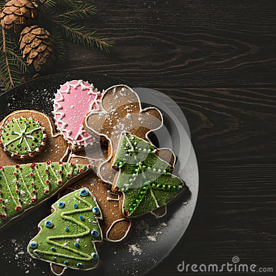 Free New Year Homemade Gingerbread Royalty Free Stock Images - 81397949