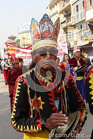 New Year in Kathmandu, Nepal Editorial Stock Image