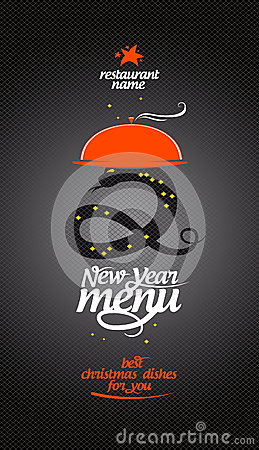 New Year Menu. Stock Images - Image: 27475724