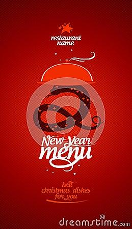 New Year menu.