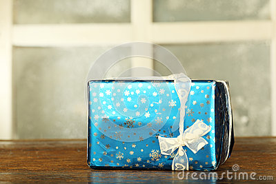 New year present in box