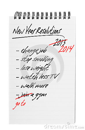 Free New Year Resolutions - Again Stock Photo - 30916970