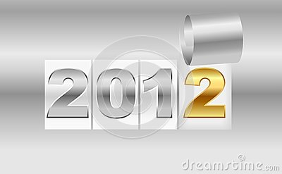 New Year s  2012 metallic background
