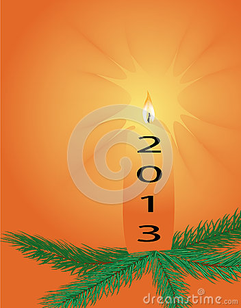 New Years 2013 with a Christmas candle
