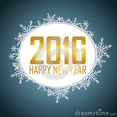 Free New Year S Background With A Speech Bubble. Gold Text, Snowflake Royalty Free Stock Photography - 59125867