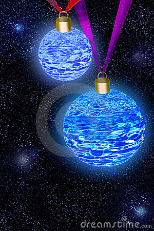 New Year s balls against the Universe