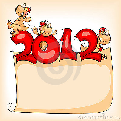 Free New Year S Banner. Dragon 2012 Royalty Free Stock Images - 21495089