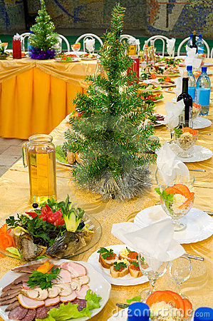 New Year s banquet restaurant table