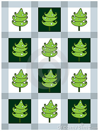 New Year s card with fir-trees