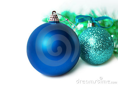 New Year's colorful christmas decorations.