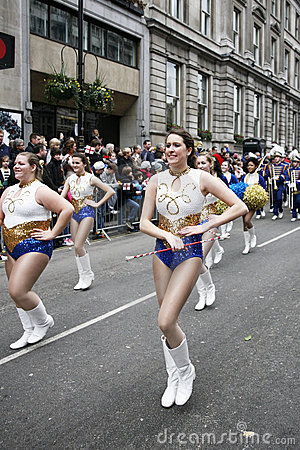 New Year s day parade in London Editorial Stock Image