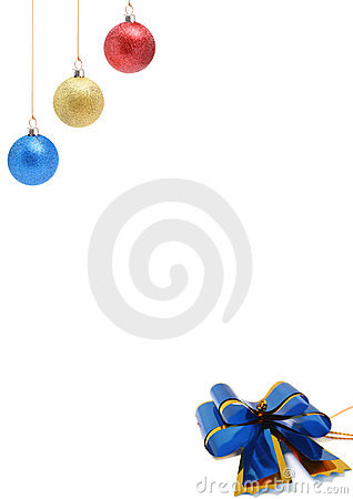 New Year s decorations of red yellow and blue color 1