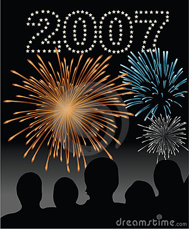 Free New Year S Eve 2007 Fireworks Stock Images - 1645164