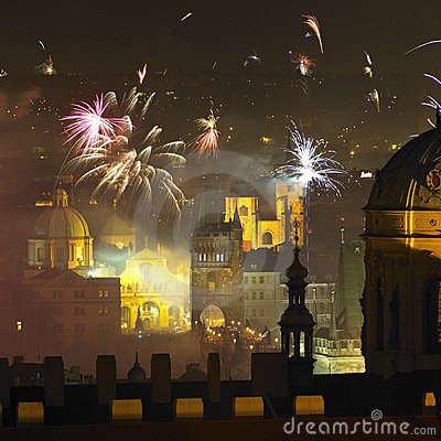 Free New Year S Eve In Prague Royalty Free Stock Photo - 16927845