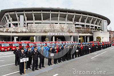 The New Year s Fire Review Kanagawa, Japan Editorial Stock Image