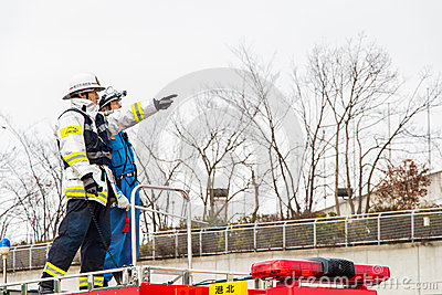 The New Year s Fire Review Kanagawa, Japan Editorial Image