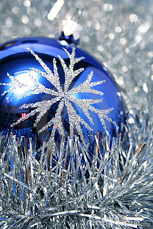New Year s glass sphere of dark blue color 3