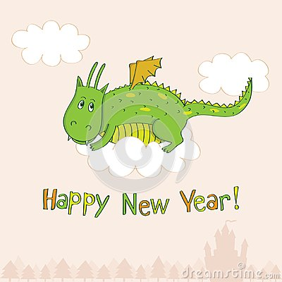 New Year s greeting card