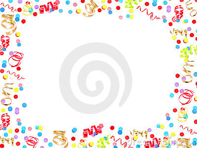 General Party Theme Border Stock Photography Image 17645062