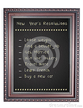 New Year s Resolution Chalk Board Frame