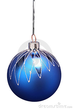 New Year s sphere of blue color with a pattern 3