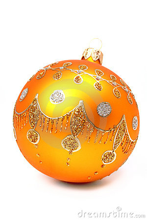 New Year s sphere of orange color