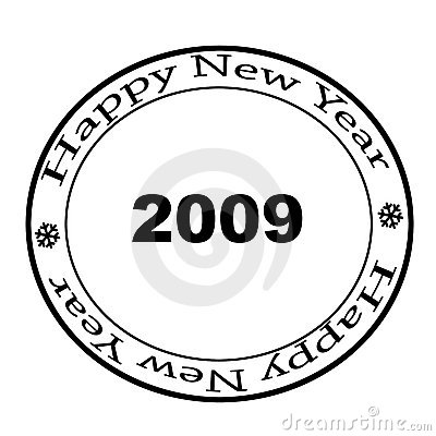 The New Year's Stamp Stock Images - Image: 6737494