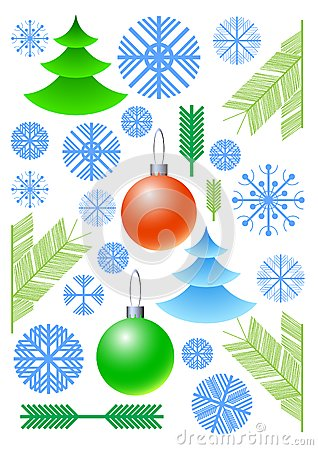 New Year s vector elements