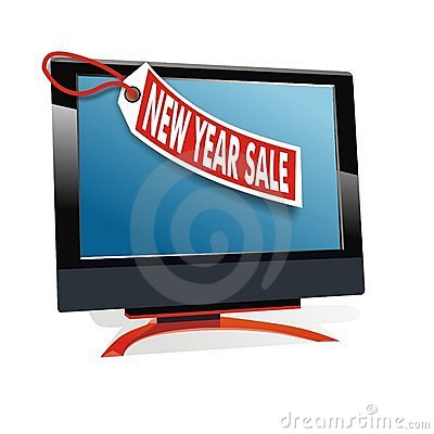 New year sale for monitor display