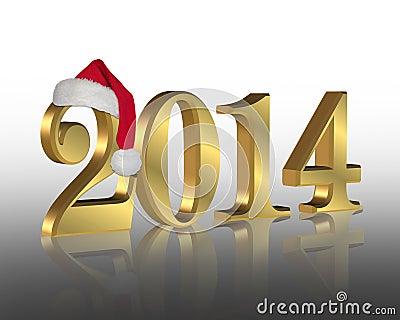 2014 New year santa hat