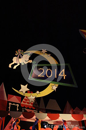 New Year Sign Editorial Stock Photo